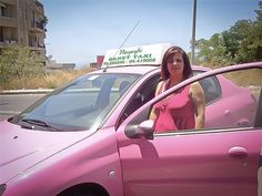 Nayaghi Banet Taxi offers taxi services in pink cabs driven by women for women.
