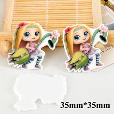 50pcs Cartoon Little Charmers Posie Flatback Resins Kawaii Planar Resin Crafts DIY Christmas Home Decoration Accessories