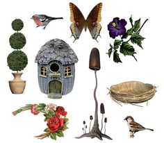 FREE Nature collage sheet by rubyblossom., via Flickr
