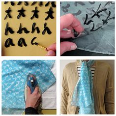 Cyanotype scarf.