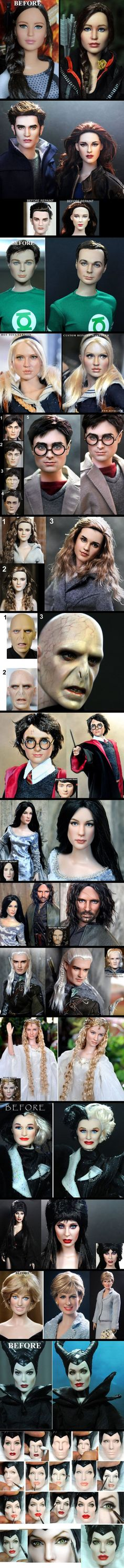 Dolls turned into masterpieces.