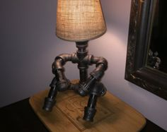 Table Lamp Lightin the Load by PipeDreamYYC on Etsy