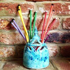Earth Wool & Fire Knitting Needle Vase/Artist Brush Holder