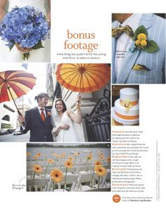 Cake Featured in the All about Orange section, Blue Hydrangea Bouquet, Groom Looks, Wedding Blog, Orchids, Floral Design, Berries, Table Decorations, Orange, Cake