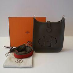 HERMÉS MINI EVELYNE IN ETAIN CLÉMENCE LEDER Hermes, Mini, Vintage Fashion, Couture, Ebay, Detail, Leather, High Fashion, Sewing