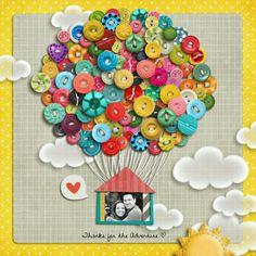 Button Hot Air-balloon card | My Polkadot Tea Pot