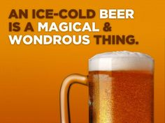 an ice-cold beer is a magical & wondrous thing.....