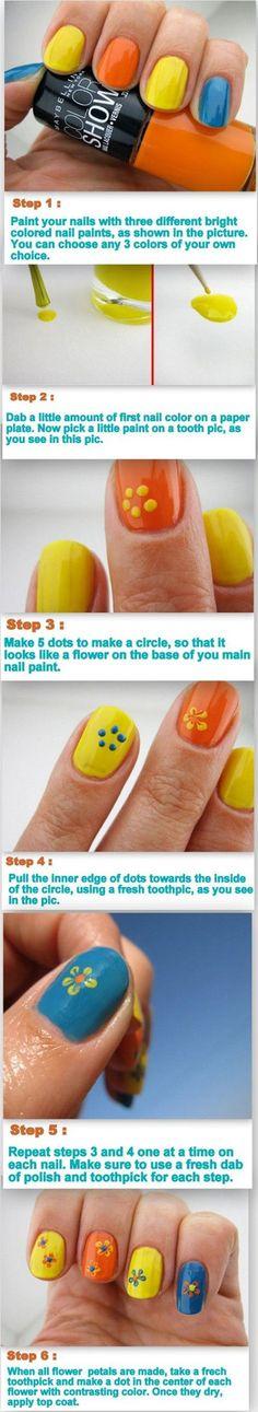 Spring & Summer Inspired Nail Art Tutorials 2014 For Beginners