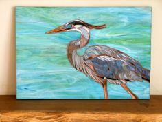 Blue Heron Glass Mosaic Original Mosaic Art by LAMosaicGifts