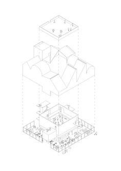 Since 1998 the Web Atlas of Contemporary Architecture Concept Models Architecture, Architecture Collage, Architecture Graphics, Architecture Drawings, Contemporary Architecture, Architecture Details, Architecture Diagrams, Architecture Visualization, Axonometric Drawing