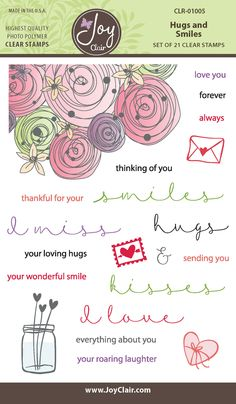 Hugs and Smiles Clear Stamps - Joy Clair - 1