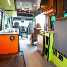 Our favorite custom DIY Ford Transit camper conversions. Get layout and design ideas from van lifers and professional outfitters. Ford Transit Custom Camper, Ford Transit Camper Conversion, Ford Transit Campervan, Custom Campers, Camper Van Conversion Diy, Sprinter Camper, Car Camper, Rv Campers, Campervan Interior