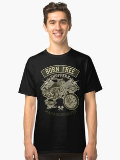 Our old school Wings & Wheel Vintage Motorcycle design makes a great gift idea for the biker you love. Available on all styles of women's & men's clothing. Motorcycle Design, Lost Boys, Tshirt Colors, Editorial Fashion, Chiffon Tops, Classic T Shirts, Shirt Designs, Mens Fashion, Clothes For Women