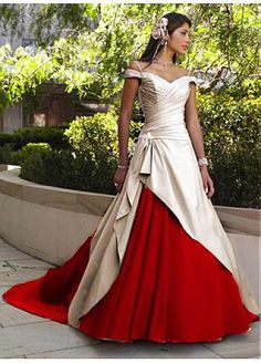 Vestido de boda elegante del estilo de la manera satén con gran trabajo hecho a mano