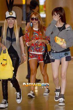 Sandara Park aka Dara & CL & Park Bom (singers) from 2NE1
