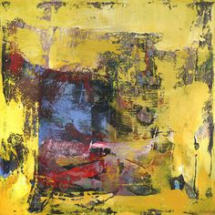 Yellow Abstract Painting Large Art | Gypsum by Shawn McNulty