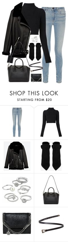 """""""Sem título #4960"""" by fashionnfacts ❤ liked on Polyvore featuring Alexander Wang, Balmain, Jakke, Yves Saint Laurent, Candie's, Givenchy and STELLA McCARTNEY"""