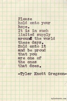 Typewriter Series #56 by Tyler Knott Gregson by evangeline