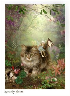 Fairy Print Mounted or unmounted or two sizes of plaques to choose from-All signed By Charlotte Bird Fantasy Kunst, Fantasy Art, Flower Fairies, Fairy Art, Magical Creatures, Cat Art, Illustrators, Fairy Tales, Art Photography