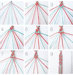 spread the love: heart pattern friendship bracelets | la manufacture
