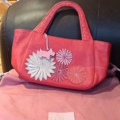 New Dark Pink Radley Grab Bag ...stop and smell the flowers Toto.