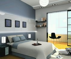 Image from http://kumfree.com/wp-content/uploads/enchanting-cool-bedroom-ideas-for-guys-with-comfy-gray-bed-combined-white-cover-bedding-also-lovely-pillows-on-gray-walls-and-recessed-lighting-under-honey-comb-pendant-lamp-featuring-sliding-glass-do.jpg.