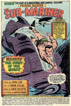Favourite Comics Of The Past Part Forty-Seven - Sub-Mariner King-Size Special #1...