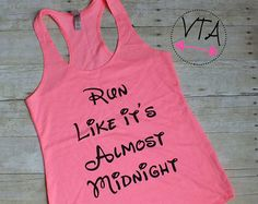 Disney Inspired Workout Tank Running Beauty by VersionTwoApparel Workout Tanks, Workout Wear, Gym Tank Tops, Athletic Tank Tops, Fall Capsule, Slogan Tee, Cool Sweaters, Disney Inspired, Racerback Tank Top