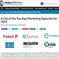 ComboApp is #1 in Top App Marketing Agencies for 2015 list! Yay! All the team is celebrating! Cheers! #comboapp #combostore #gowide #marketing #app #mobile #agency #mobyaffiliates #bestappmarketingagency