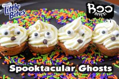 Here's a Spooktacular idea for your next Halloween party. Whip up some scary good ghosts with this easy Little Bites® DIY recipe. Halloween Desserts, Halloween Treats, Fun Desserts, Dessert Recipes, Halloween Party, Good Food, Yummy Food, Mini Chocolate Chips, Holiday Recipes