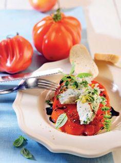 Rajčata s bylinkami a jemným sýrovým dipem / Zdroj: Harry Bischof