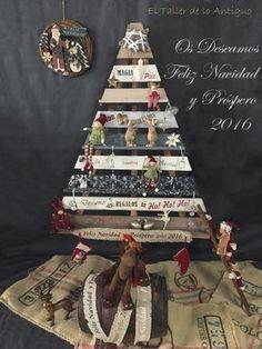 Árbol de Navidad de Madera, con mucha ilusión hemos construido nuestro árbol de…