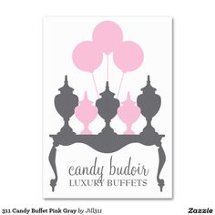 311 Candy Buffet Pink Gray Large Business Cards (Pack Of 100)