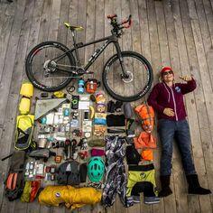 No link, but a good pic! - Anka Martin's bike tour packing list