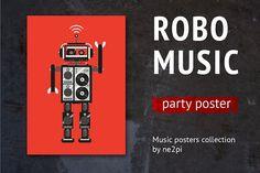 Robo Music by ne2pi on @creativemarket