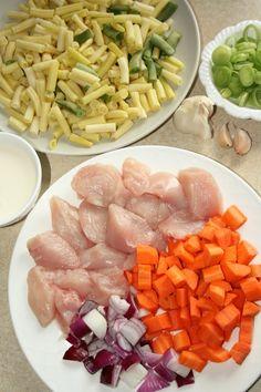 sio-smutki! Monika od kuchni: Potrawka z kurczaka z fasolką szparagową Cobb Salad, Cantaloupe, Fish, Meat, Fruit, Ichthys