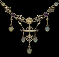 HENRY WILSON The Apollo Rare Art Nouveau Necklace | From a unique collection of vintage more