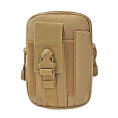 HOAEY Nylon Compact Multi-Purpose Outdoor Tactical Utility Gadget Pouch Tools Waist Bag Pack (A) -- Read more reviews of the product by visiting the link on the image.
