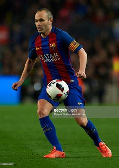 Andres Iniesta of Barcelona in action during the Copa del Rey semi-final second leg match between FC Barcelona and Atletico de Madrid at Camp Nou on February 7, 2017 in Barcelona, Spain.