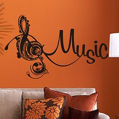Music Treble Clef Wall Stickers – USD $ 34.99