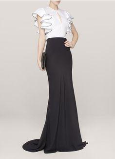 Alexander McQueen - Fishtail crepe skirt | Black Maxi Skirts