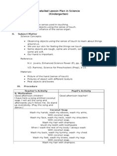 Detailed Lesson Plan in Science Science Lesson Plans, Science Lessons, Weather Song, Plant Lessons, Lesson Plan Examples, Text File, Kids Writing, Word Doc, Kindergarten Worksheets