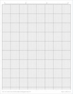 Printable Graph / Grid Paper PDF Templates   Template, Graph paper ...