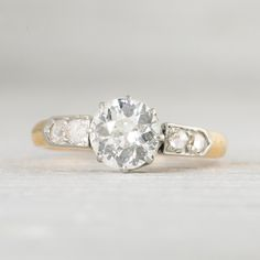 Image of 1.15 Carat Victorian Diamond Engagement Ring