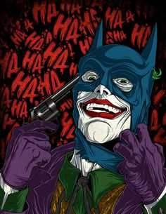 joker wearing batmans cowl - Google Search