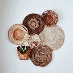 Basket Set by Kindred Finds Baskets On Wall, Decorative Wall Baskets, Hanging Baskets, Wicker Baskets, Boho Living Room, Basket Decoration, Home Decor Inspiration, Boho Decor, Bedroom Decor