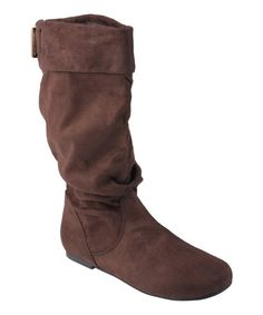 638dca8ed9 Journee Collection Brown Shelley Wide-Calf Slouch Boot