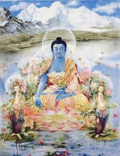 kkdas:    Medicine Buddha- modern art     Mahakala