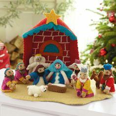 Bethlehem Nativity Set- hand made in Nepal!
