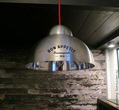 Купить Потолочный светильник в стиле ЛОФТ - серебряный, светильник лофт, ретро, металлический светильник